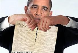 Obama tears constitution